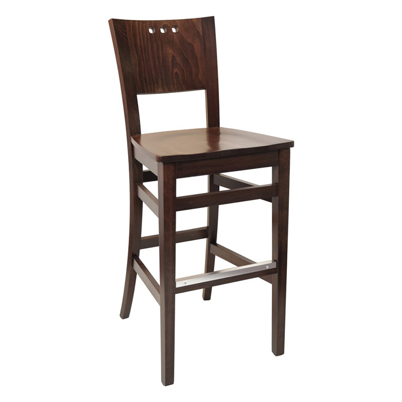SIL 094/2 Barstool w/Solid Wood Seat Markham and Toronto commercial seating, Ontario